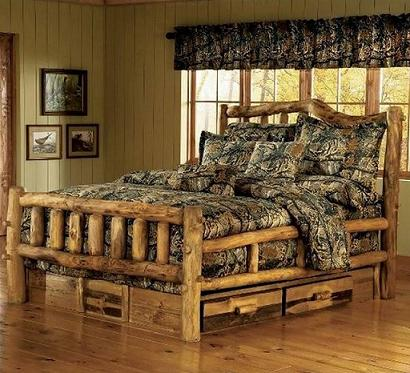 Lit rustique for Log cabin style bunk beds