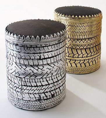pouf pneu. Black Bedroom Furniture Sets. Home Design Ideas