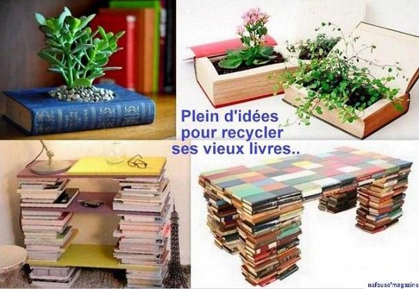 recycler vieux livres. Black Bedroom Furniture Sets. Home Design Ideas