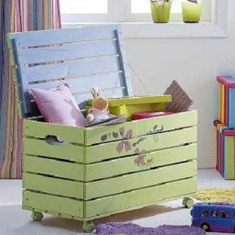coffre jouets palettes. Black Bedroom Furniture Sets. Home Design Ideas