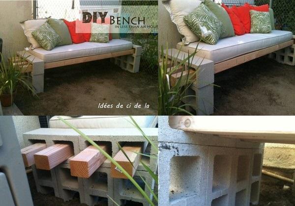 banc de jardin faire. Black Bedroom Furniture Sets. Home Design Ideas