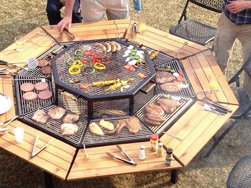table barbecue. Black Bedroom Furniture Sets. Home Design Ideas