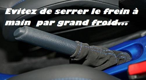 frein à main V6