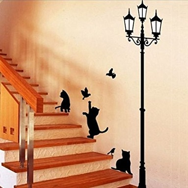 sticker bluelover chat escalier