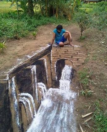 tag artiste Sri-lankais fait avec farine et charbon