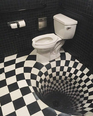 déco wc dans un bar