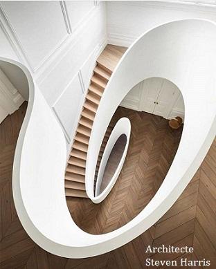 déco escalier(architecte Steven Harris